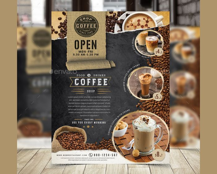 Coffee Shop Flyer Templates  Flyer Templates    Flyer
