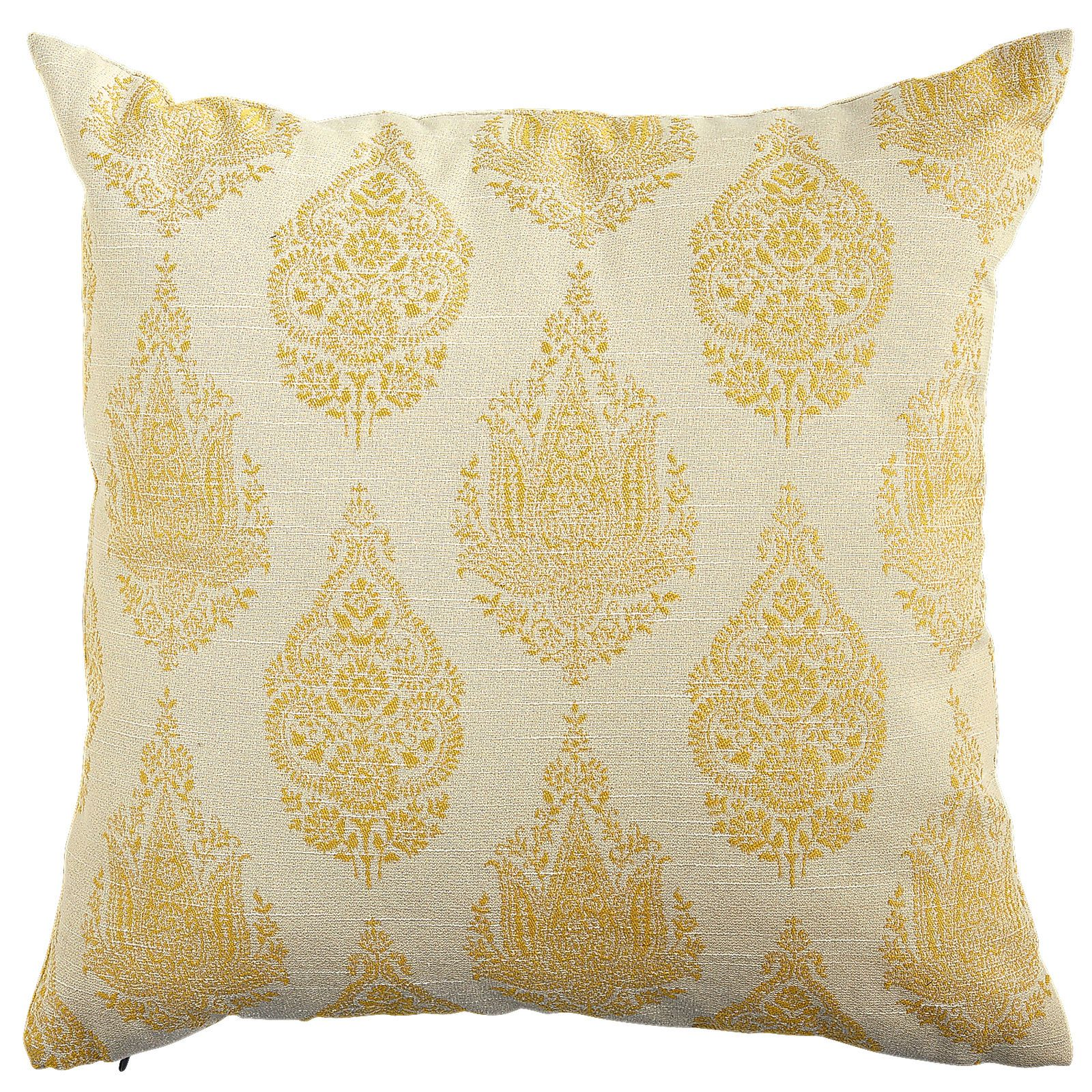 Rambagh Woven Paisley Pillow - Yellow, inspired by the Rambagh Palace, once the private sanctuary of a maharaja and now one of the world's most exclusive hotels from Pier One. Reminds me of the Yellow Cascade pillow from potterybarn that I pinned.
