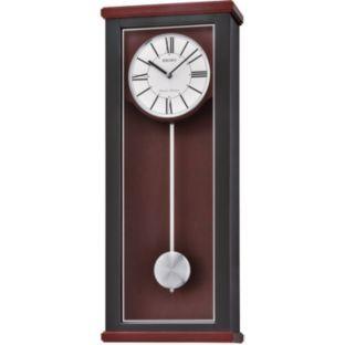Buy Seiko Dark Wood Dual Chime Pendulum Wall Clock At