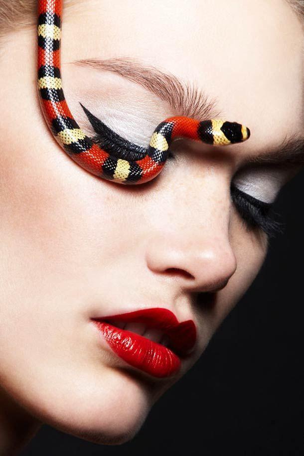 Snakes and Girls: Un proyecto fotográfico de Alexandra Leroy #photography, #model