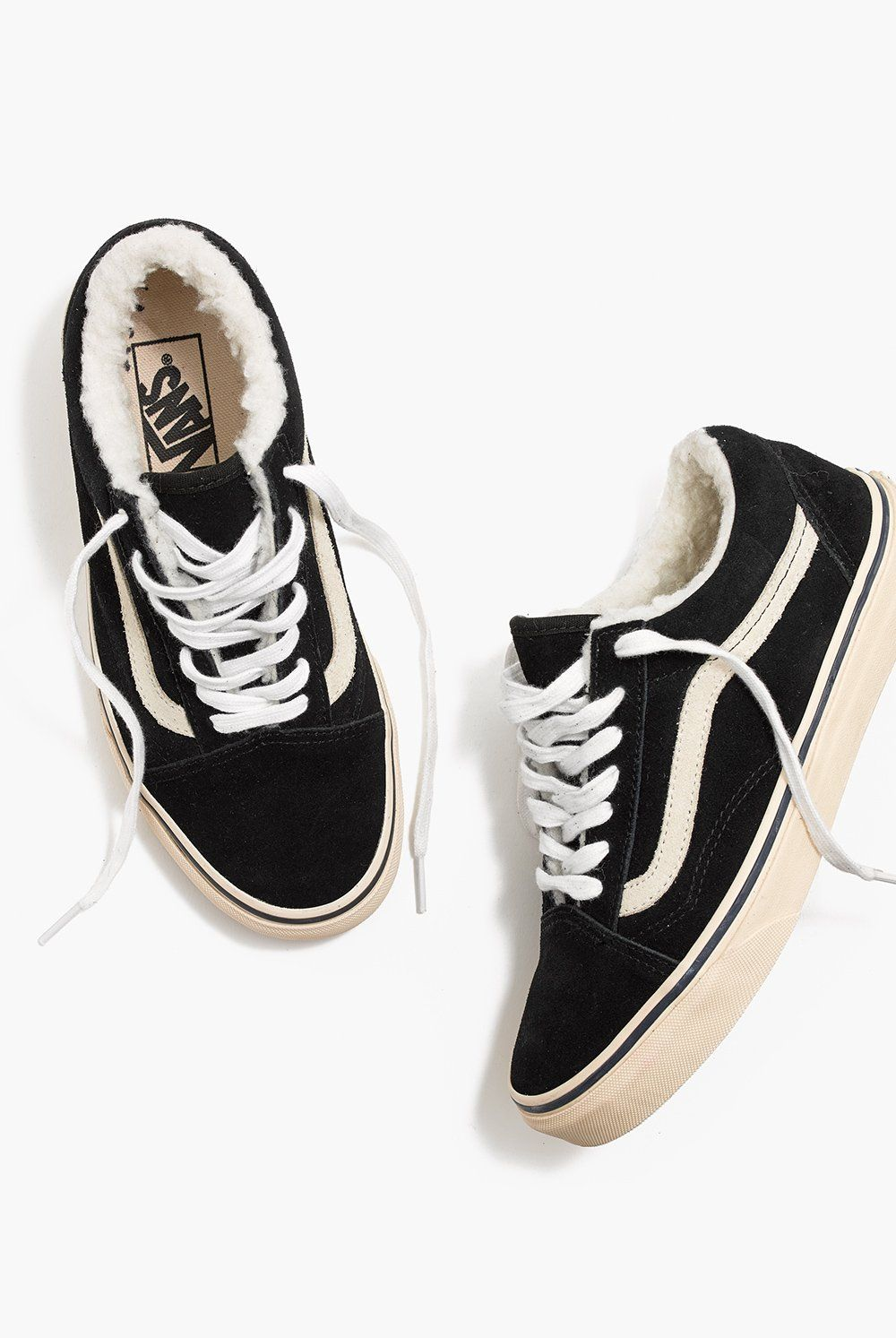 Madewell x Vans® Unisex Old Skool Sneakers in Suede and Sherpa