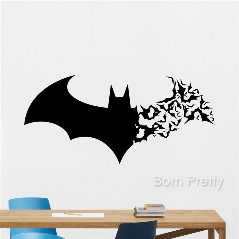 6 10 1 Sheet Bat Pattern Wall Stickers Waterproof Decal Removable Diy Room Paper Creative Home Decoration Bornpretty