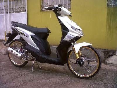 Modifikasi Honda Beat Velg 17 Warna Putih Ban Kecil Honda Velg