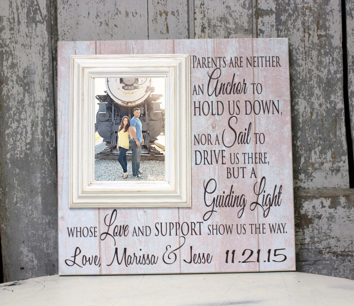 Wedding Gift For Parents Thank You Gift For Parents Wedding Gift Parents Parents Of The Bride