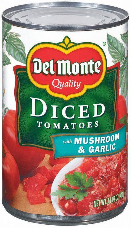 Del Monte Diced Tomatoes With Mushroom Garlic 14 5 Oz Can Vegetables With Iron Vegetables For Diabetics High Fiber Vegetables