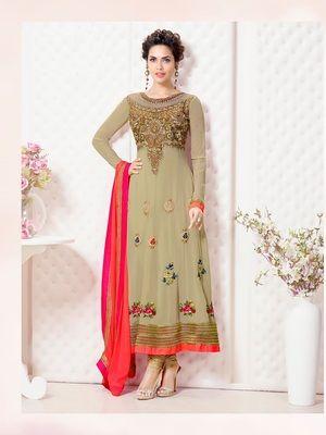 67dd449d72 Strollay Semi-Stitched Suit with Dupatta. INR 2499/- | Ramdan Eid ...