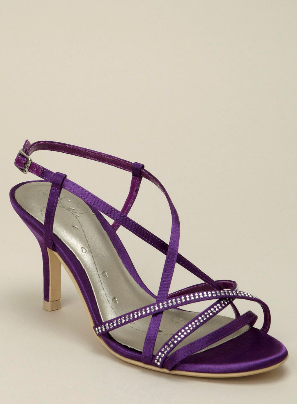 Bridesmaids Shoe Idea Purple Wedding Shoes Purple Bridesmaid Shoes Strappy Wedding Shoes