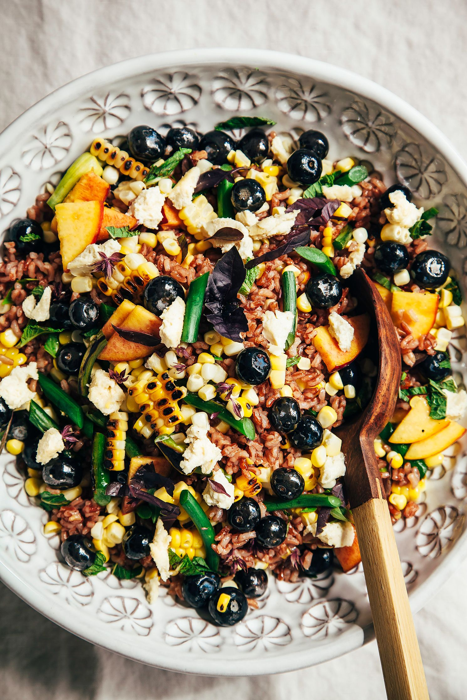 Summer picnic salad with blueberries vegan feta pinterest summer picnic salad with blueberries vegan feta the first mess forumfinder Gallery