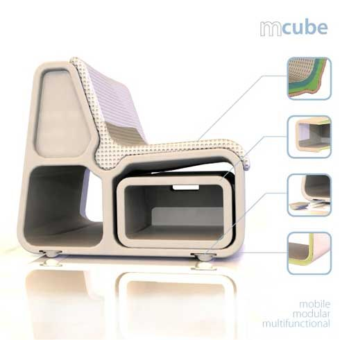 Modular and Multi-functional Seating Unit  M-cube