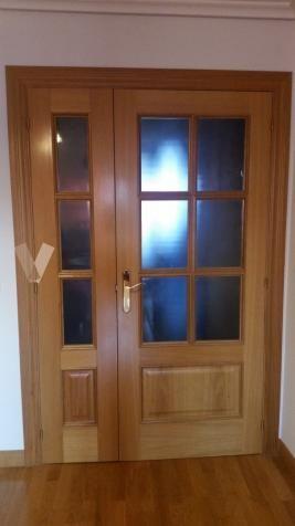 Puerta doble hoja roble macizo en Valladolid - vibbo - 97154339 ...
