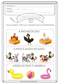 Leitura De Frases Leitura Education English Activities E School