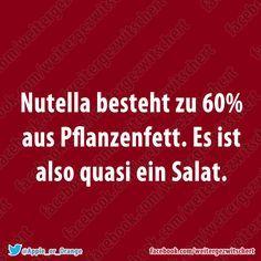 ... und Schokolade ist Obst, weil Kakaobohnen an Bäumen wachsen. Plötzlich ist gesunde Ernährung gar nicht mehr so schwer! ;)