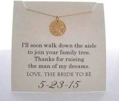 A gift from the bride to the mother-in-law | Someday | Pinterest ...