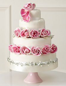 Ivory Traditional Wedding Cake Create Your Own By Marks Spencer