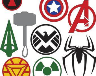 dc superhero logos svg dxf files super cool svgs pinterest