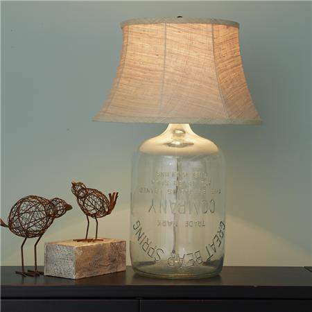 The Latest Trend: Glass Bottle Table Lamps | Glass bottle, Glass ...