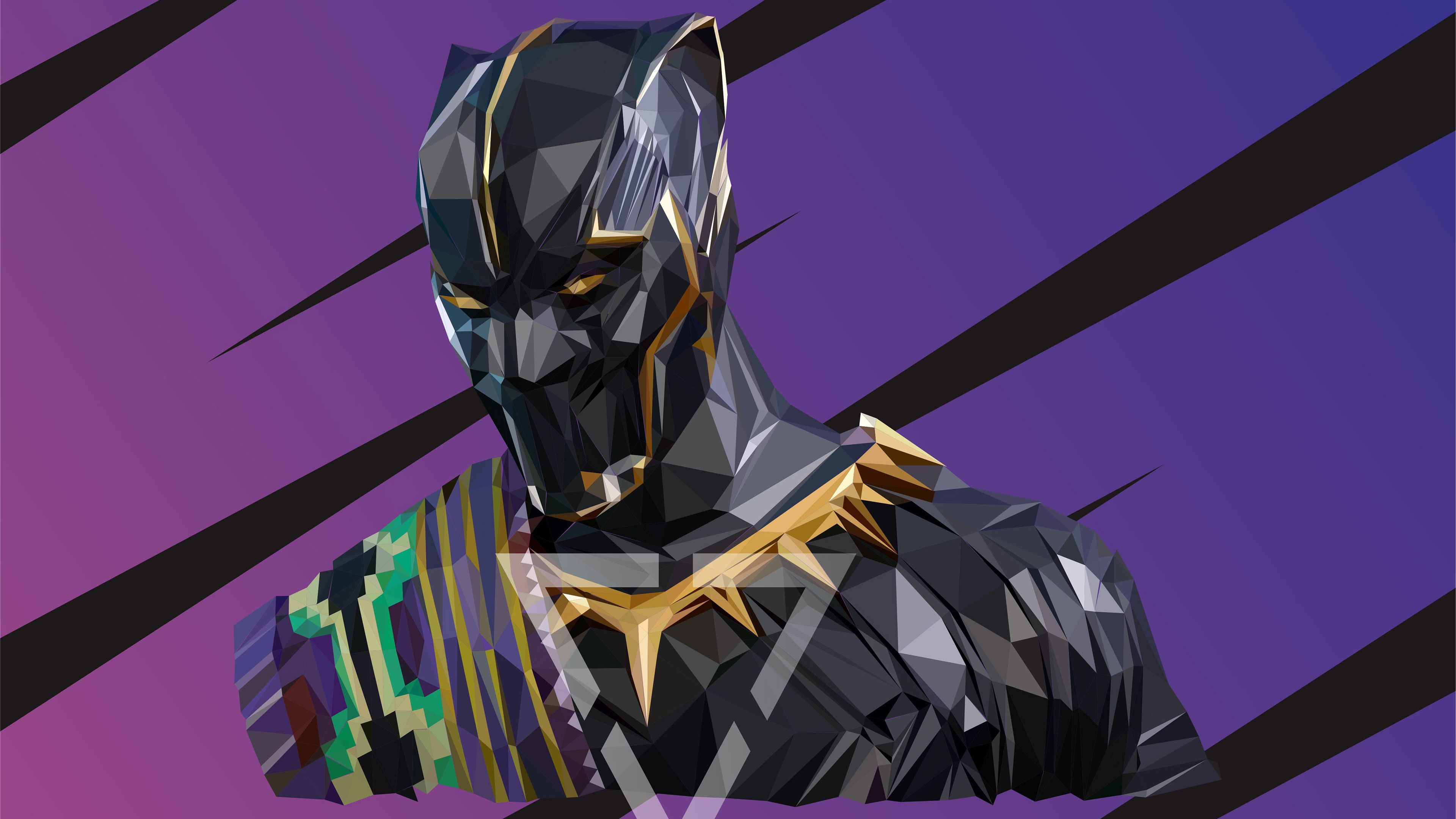 Black Panther T Chakka Lowpoly Art 4k Superheroes Wallpapers Hd Wallpapers Black Panther Wallpapers Behance Wallpape Low Poly Art Black Panther Hd Wallpaper