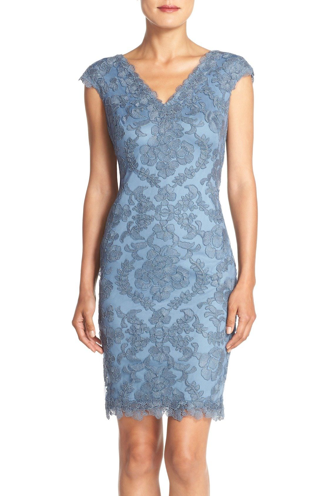 Tadashi Shoji Embroidered Tulle Sheath Dress available at #Nordstrom ...