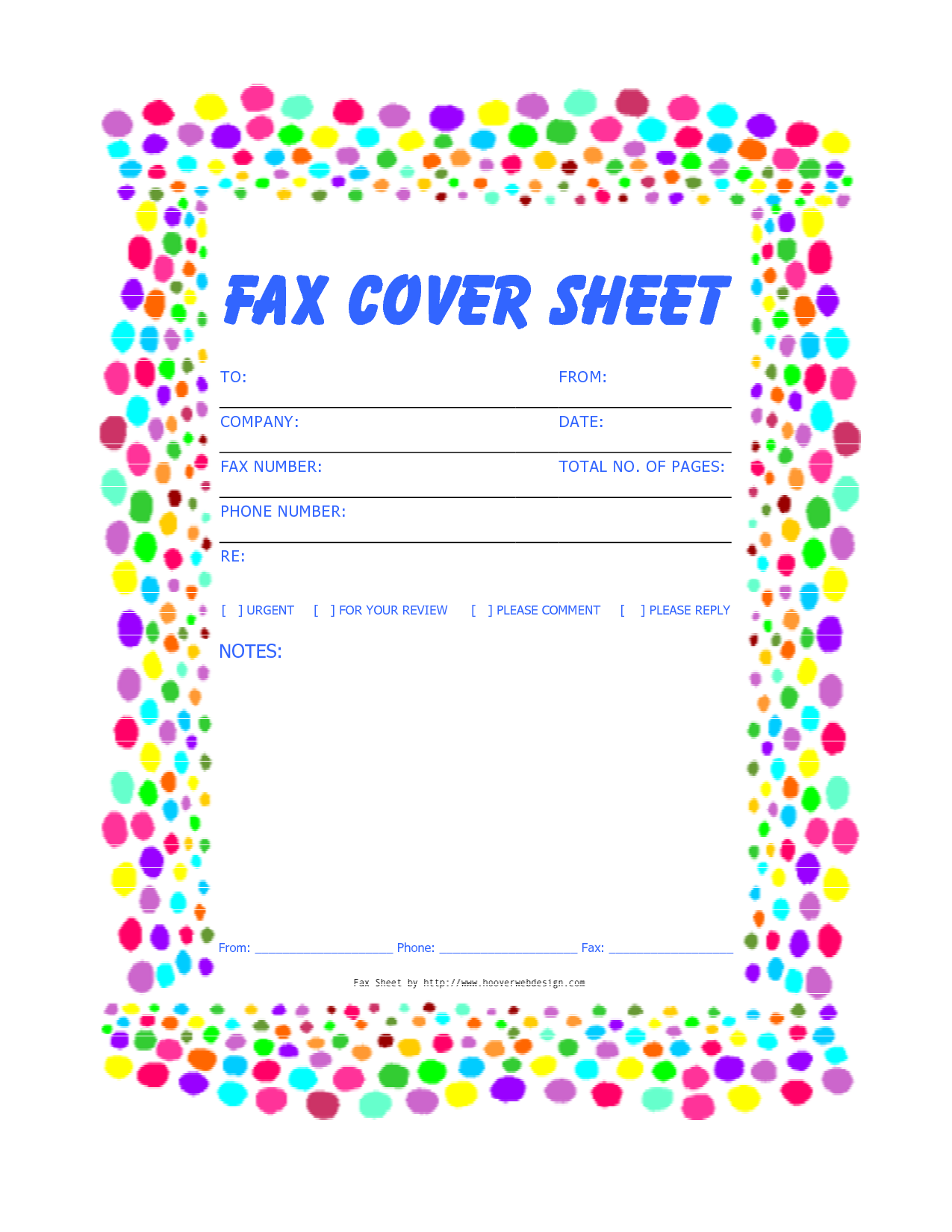 printable cover sheet