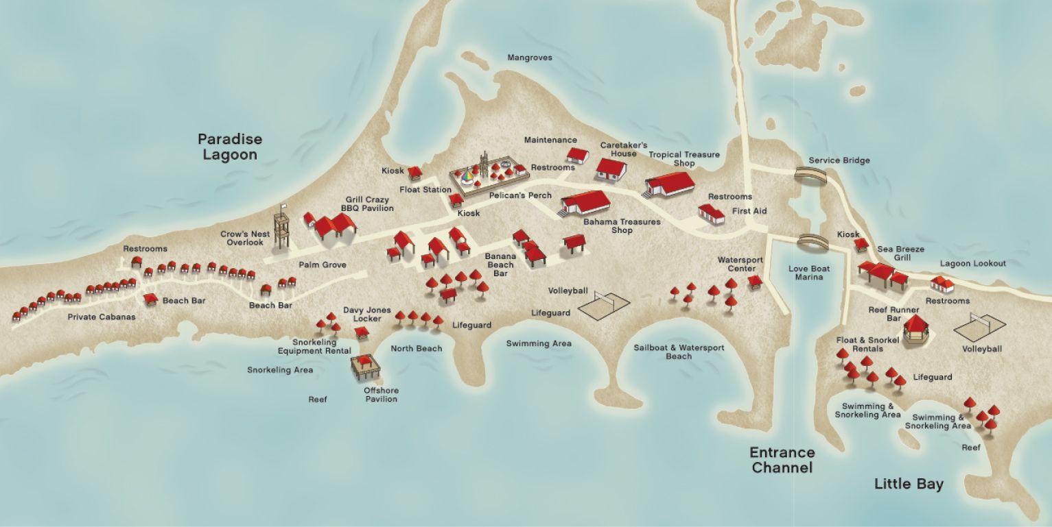 Princess Cays Map Princess Cays Map