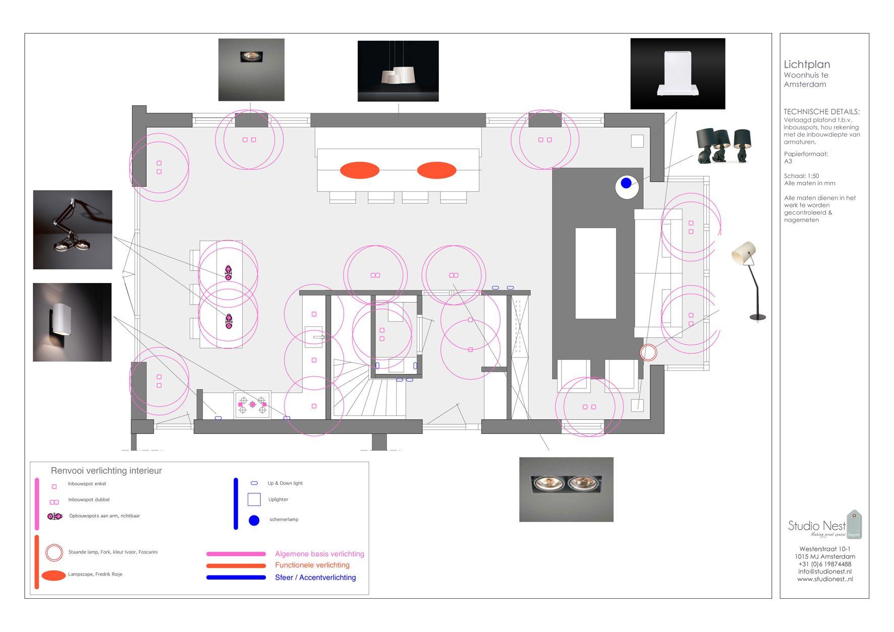 Lichtplan lichtadvies © Studio Nest | Architecture models & drawings ...