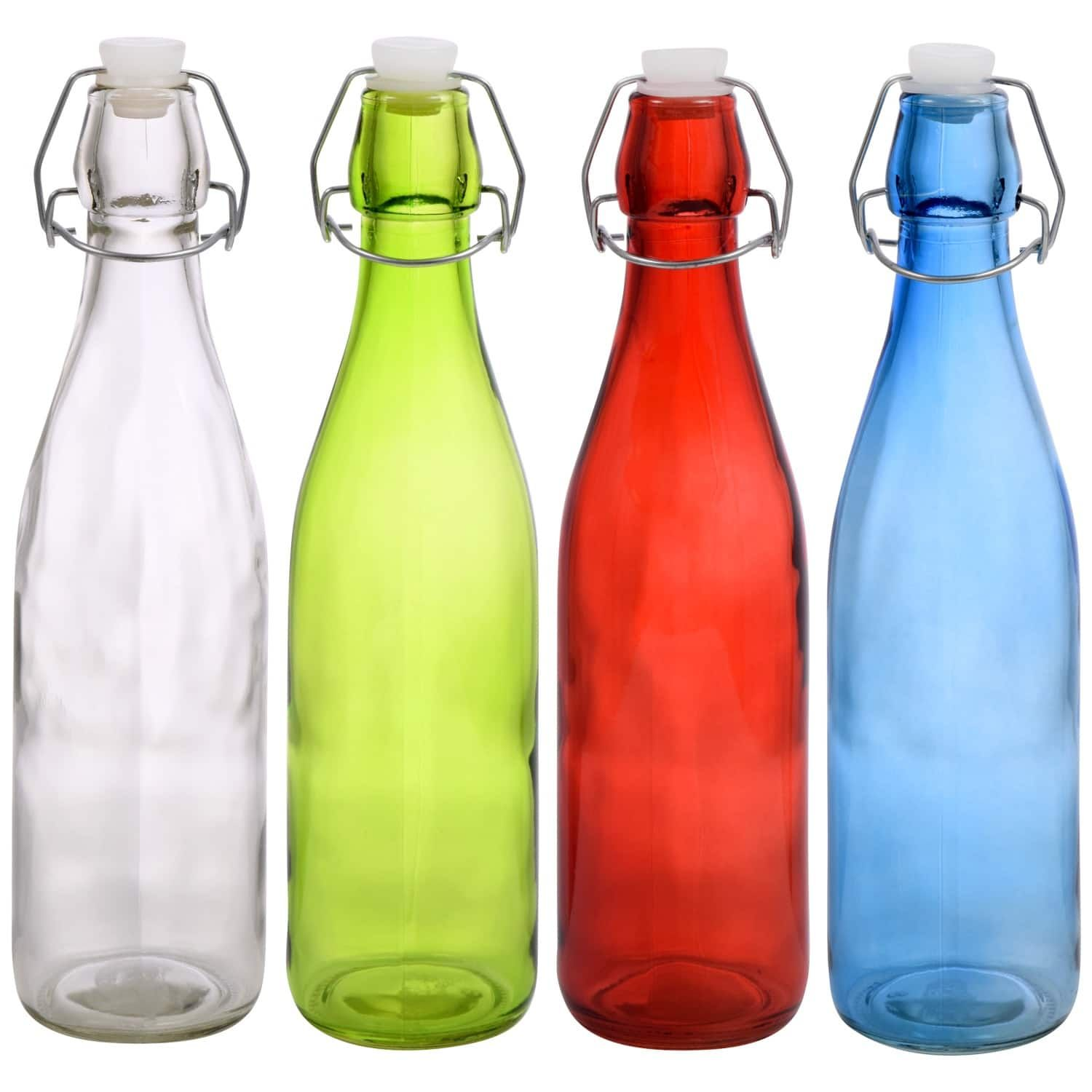 Dollartree Com Bulk Bulk Colorful Glass Bottles With Flip Top Metal Clasps 18 Oz Colored Glass Bottles Glass Bottles Glass Bottle Diy