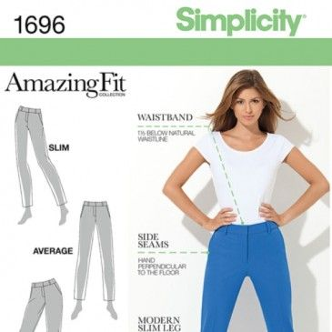 Simplicity 1696 - Amazing Fit Straight Leg Pants | sew so | Pinterest