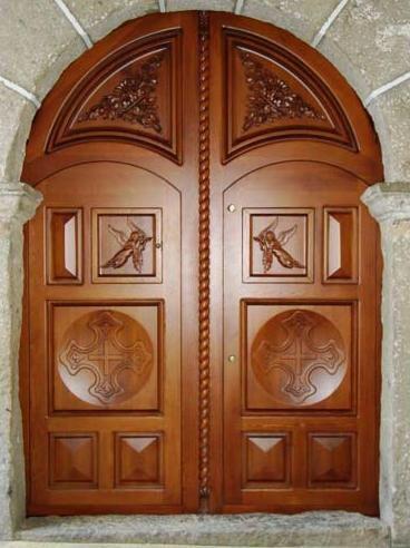 35+ Puertas de madera de arco ideas
