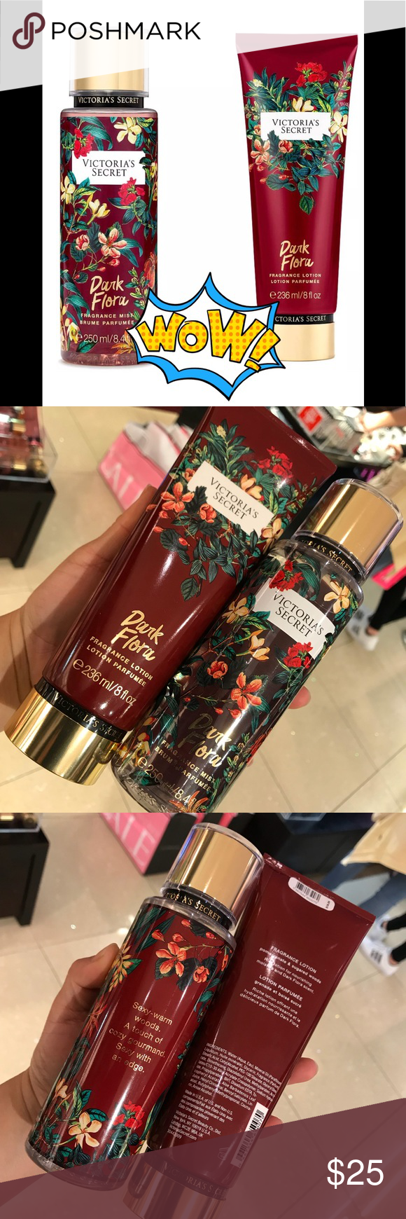 ee1b9711a5 Spotted while shopping on Poshmark  Victoria Secret Dark Flora Fragrance  Lotion   Mist!  poshmark  fashion  shopping  style  Victoria s Secret  Other