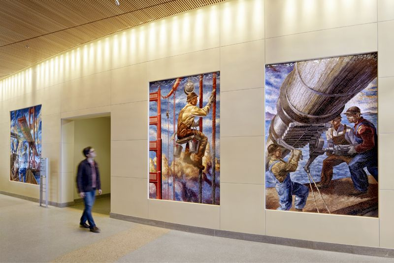 Murals by owen smith laguna honda hospital 2010 san