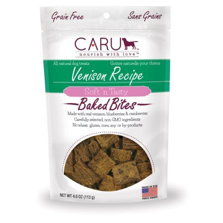 Caru Soft 'n Tasty Bites Dog Treat, Venison, 4 Oz