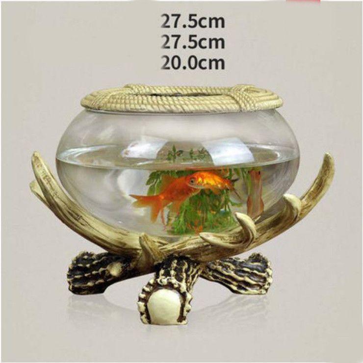 E20 Resin Silver Elephant Glass Fish Tank Living Room Desktop Decor 24x24cm Z Pet Supplies Aquariums & Tanks