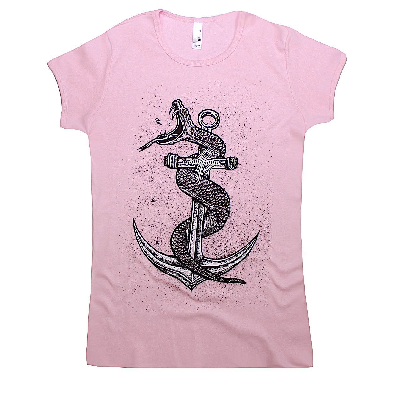 Women's Snake & Anchor Tee in Pink