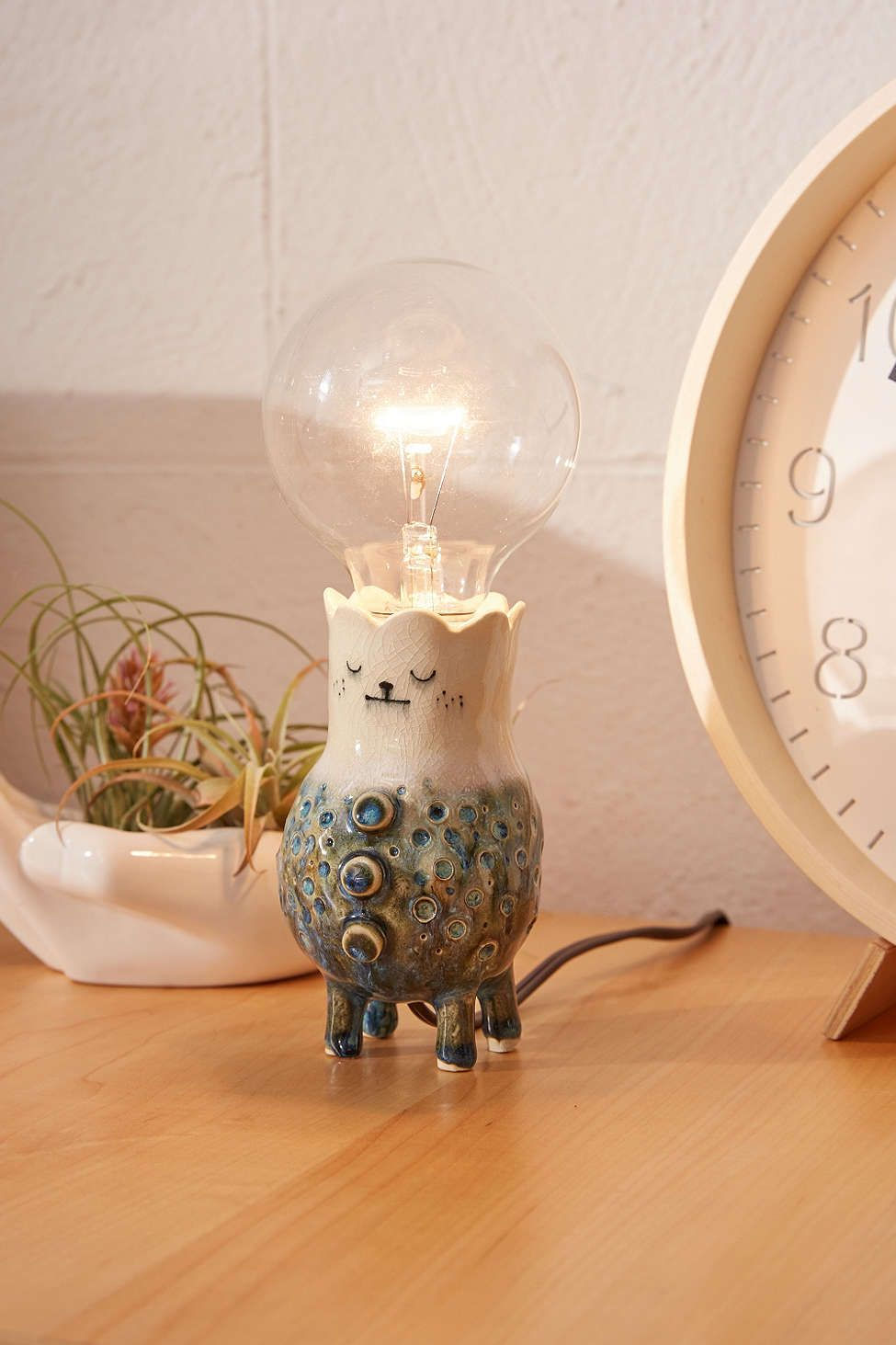 Clay And Wish One-Of-A-Kind Illustrated Table Lamp | Urban ... for Clay Lamp Design  110zmd