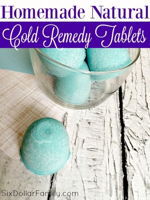 Homemade Natural Cold and Decongestant Shower Tablets - Skip the store bought vapor tablets! This homemade natural remedy works much better, is cheaper and are so easy to make! You'll wonder you waited so long to make the switch!