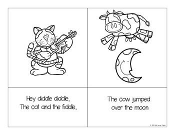 hey diddle diddle nursery rhyme fun with mini book sequencing cards and hands