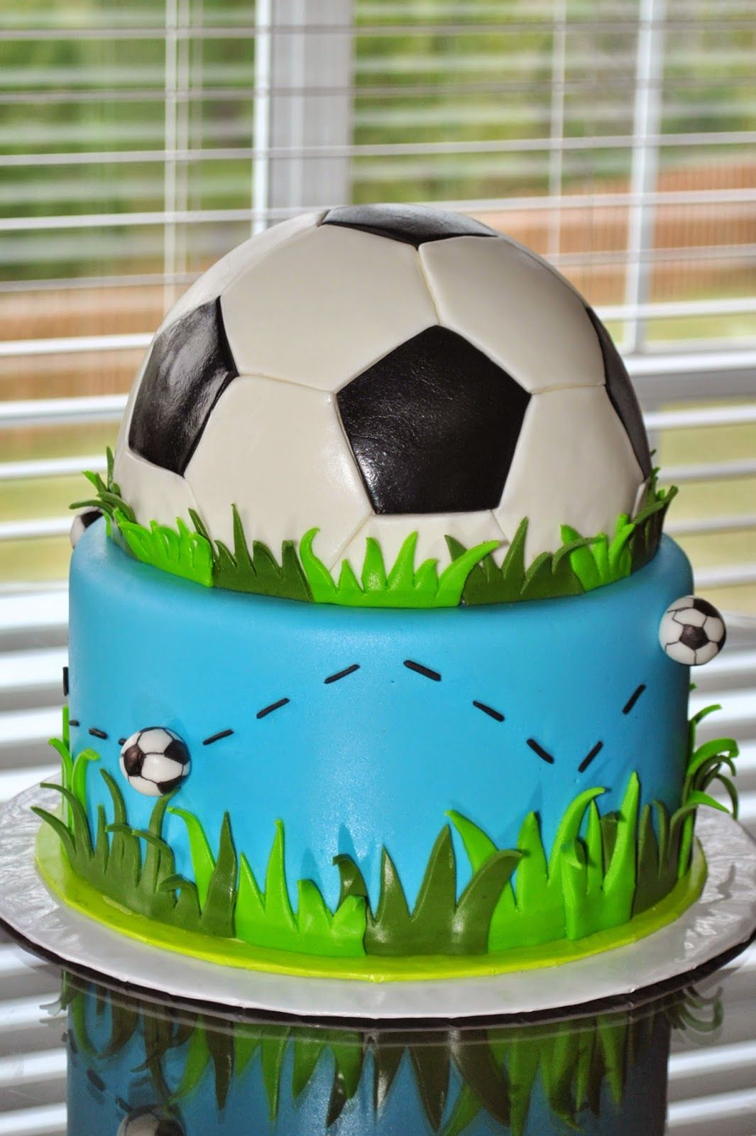 How To Decorate A Soccer Ball Cake Soccer Ball Cake More  Cakes  Pinterest  Soccer Ball Cake