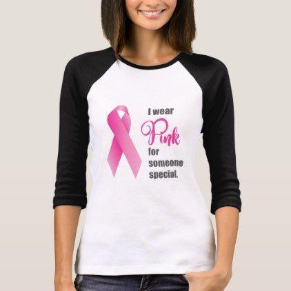 Breast Cancer Awareness. Pink Ribbon T-Shirt