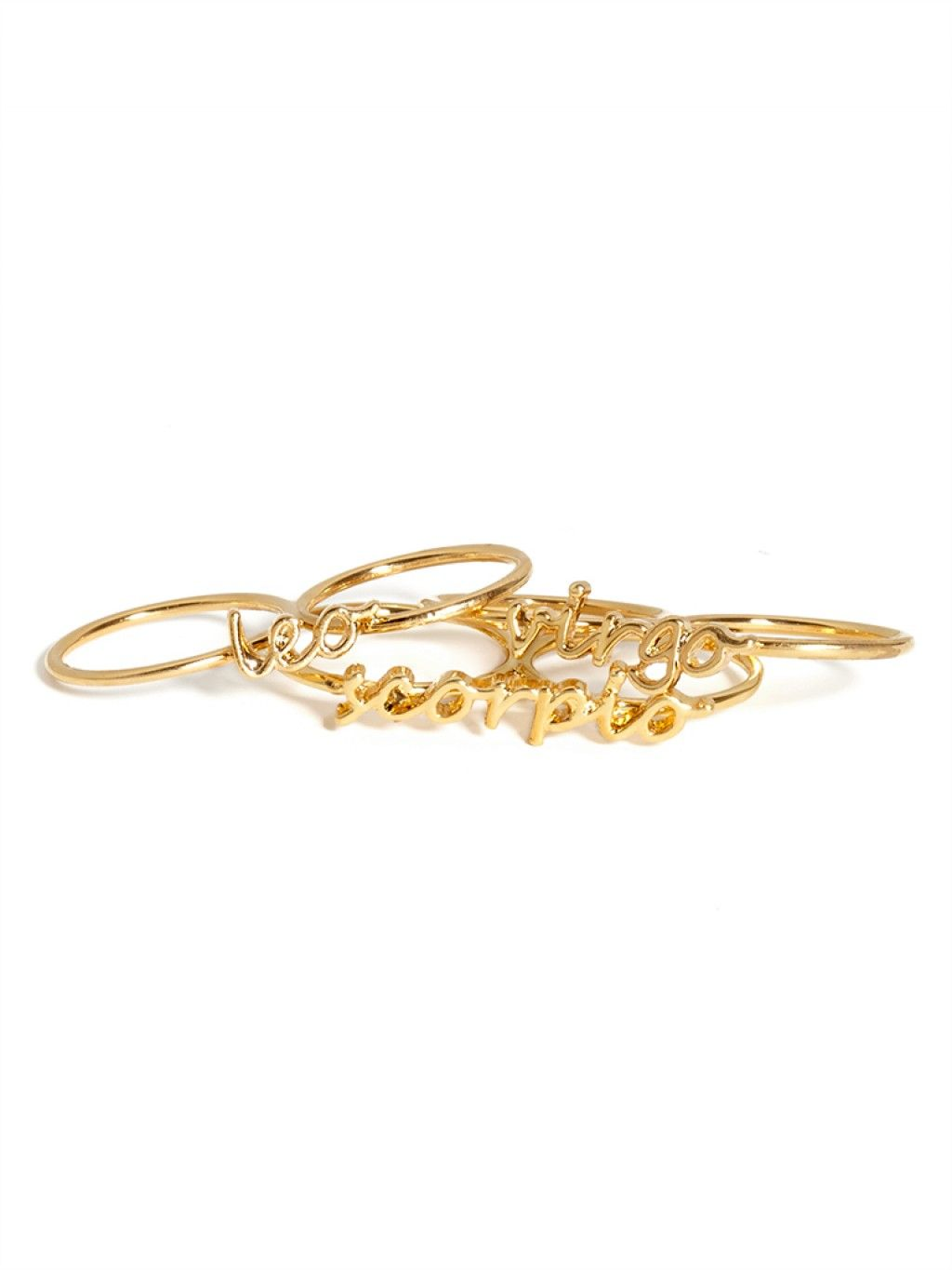 Gold Zodiac Knuckle Ring Ring | BaubleBar