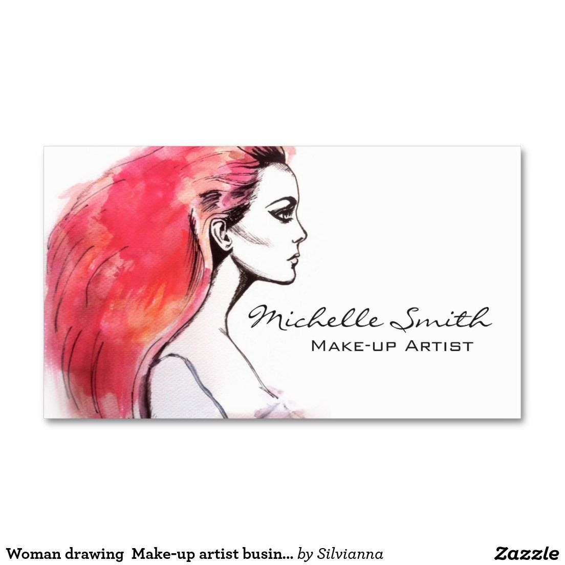 Woman drawing make up artist business card design architecture woman drawing make up artist business card design reheart Image collections