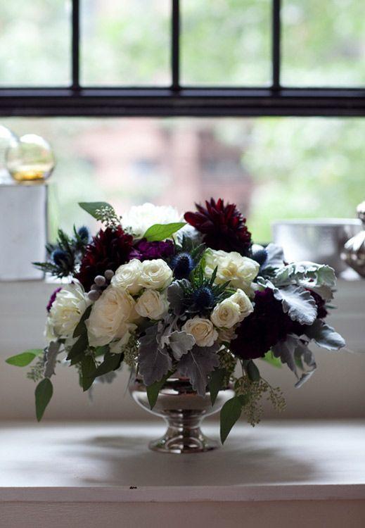 Instructions For Making This Gorgeous Floral Arrangement Winter Wedding Flower Arrangements Fall Floral Arrangements Winter Wedding Flowers