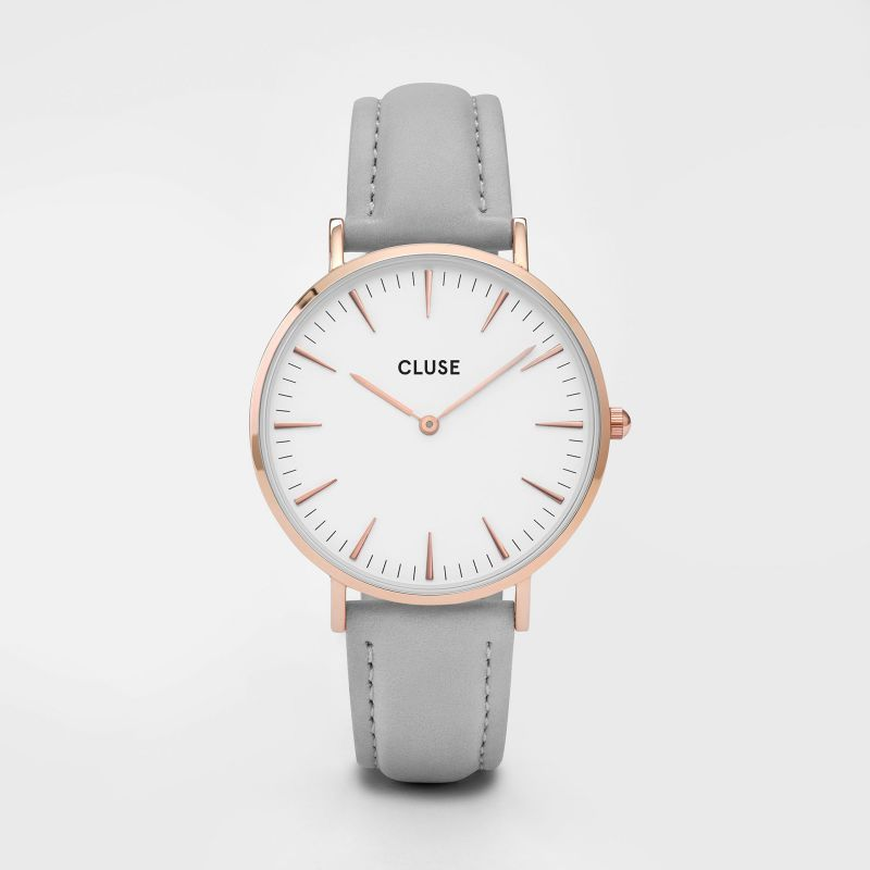 cluse uhr grey rose gold