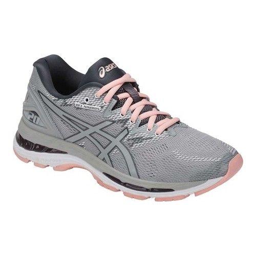 asics running trainers women grey