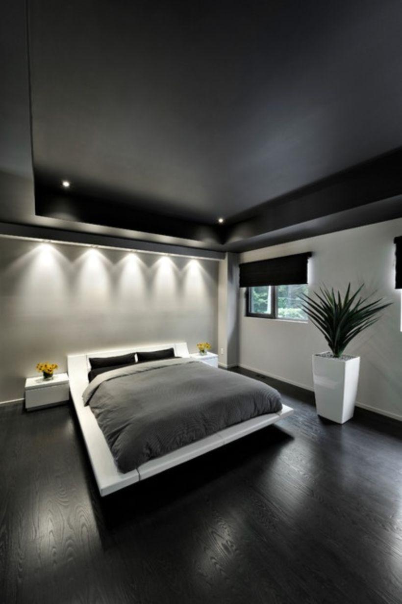 47 Dark Wood Floor Ideas For Modern Bedroom Modern Master Bedroom Design Minimal Bedroom Modern Master Bedroom
