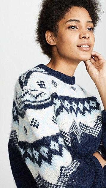 7c32a58df Fair Isle Sleeve Sweater
