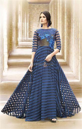 aba27562c299 Designer Indo Western Gowns Patterns For Fashionistas in 2019 | Gown Dress  | Dresses, Formal dresses, Indian gowns