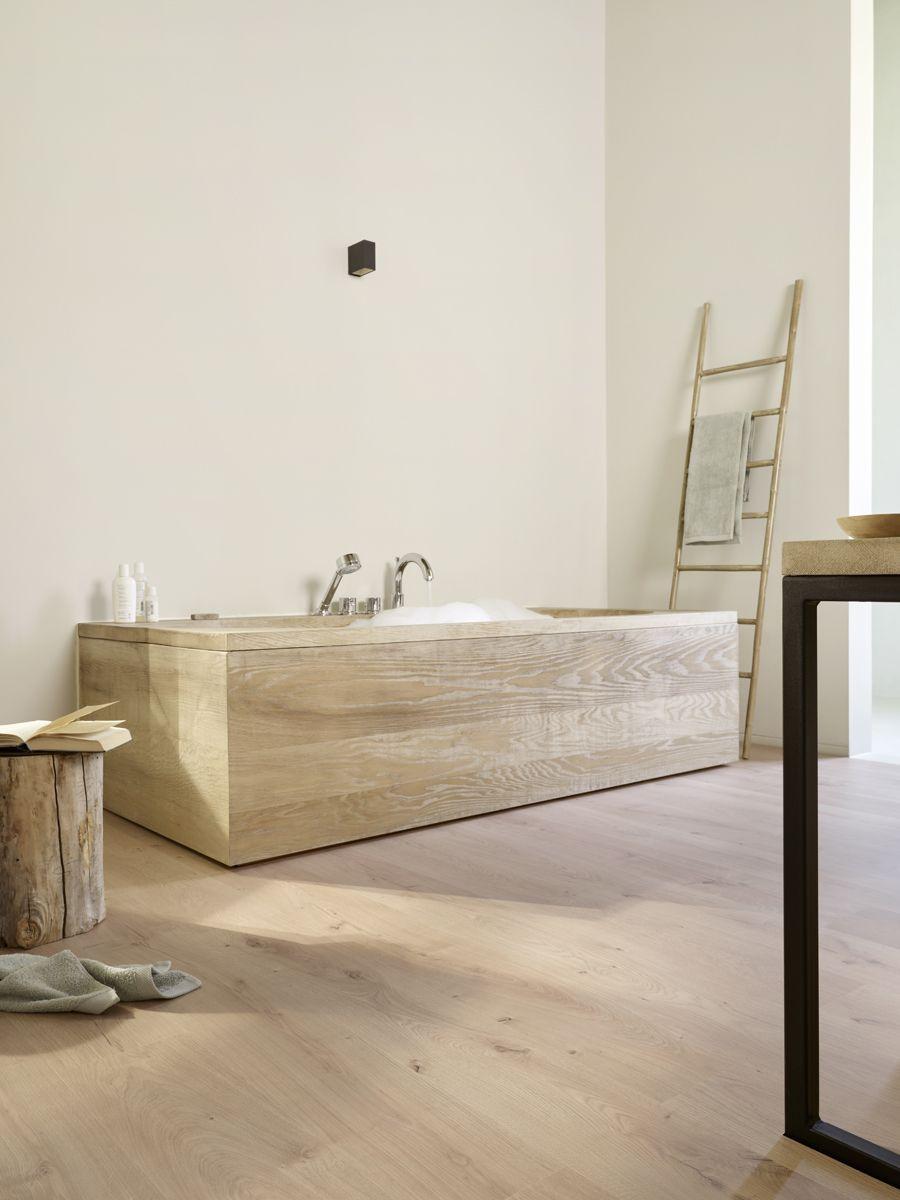 Minimalistic bathroom ft. BerryAlloc water-resistant Riviera ...