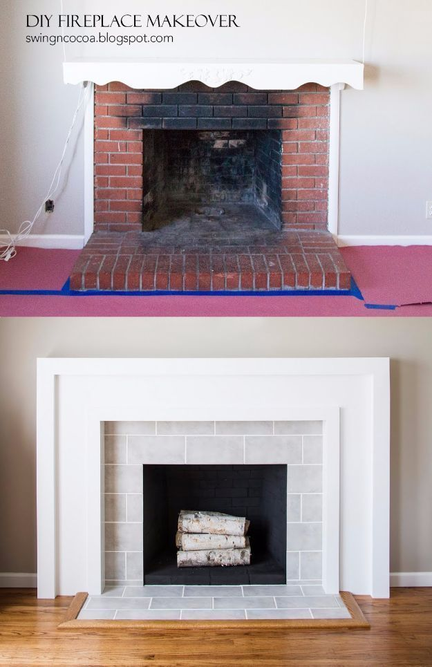 DIY Home Improvement On A Budget - DIY Fireplace Makeover - Easy and ...