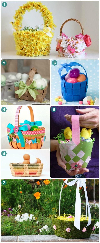 cesta toda revestida de flores... que beleza de cesta...