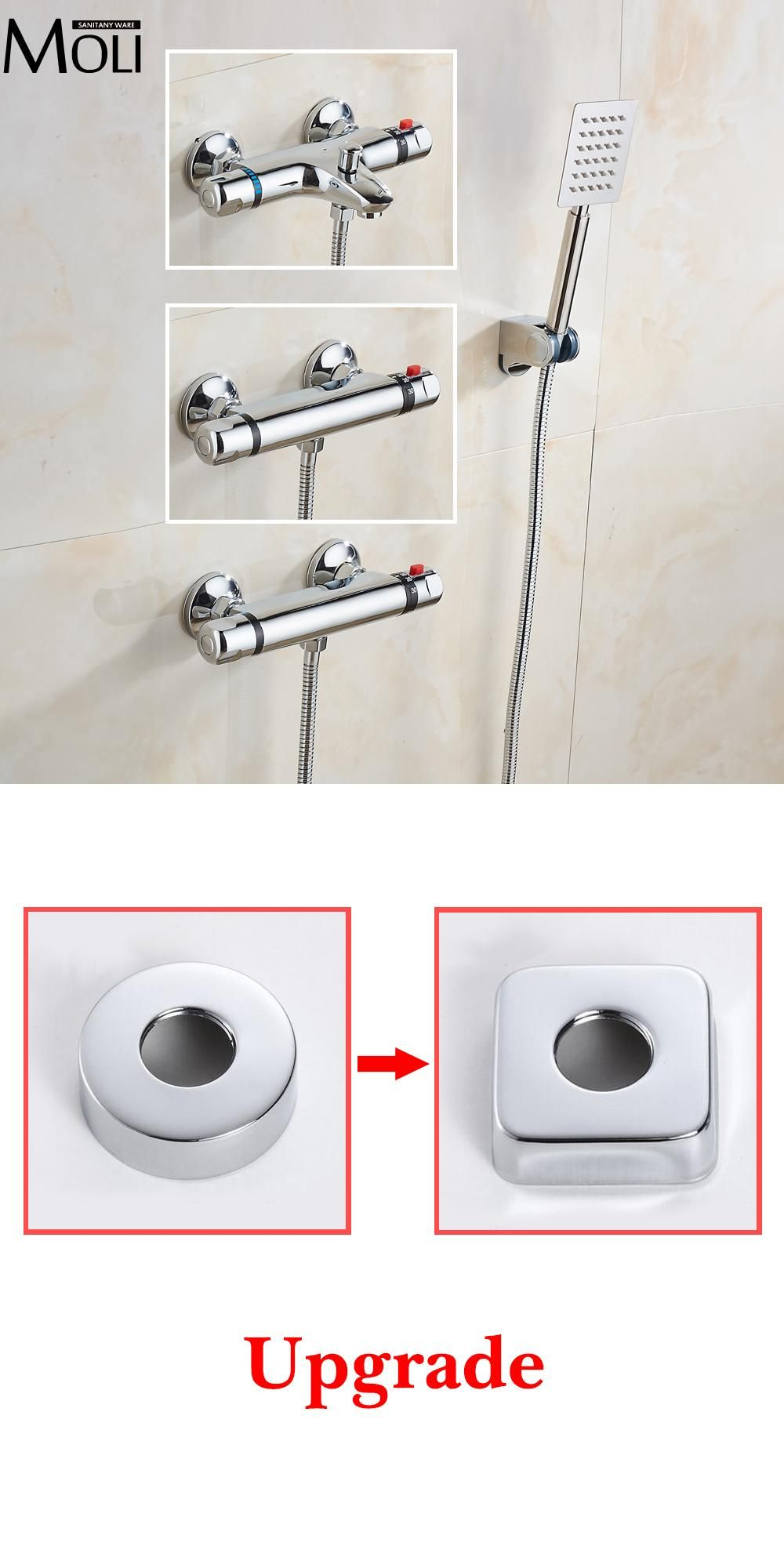 Visit to Buy] Wall Mounted Chrome Thermostatic Shower Mixer ...